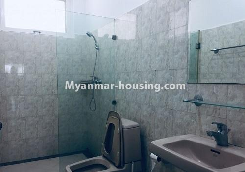 Myanmar real estate - for rent property - No.4460 - One storey furnished landed house for rent near Inya Lake! - bathroom