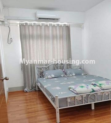 မြန်မာအိမ်ခြံမြေ - ငှားရန် property - No.4469 - ဗိုလ်တစ်ထောင် Time Square တွင် အိပ်ခန်းနှစ်ခန်းနှင့် ကွန်ဒိုခန်းငှားရန် ရှိသည်။bedroom 1