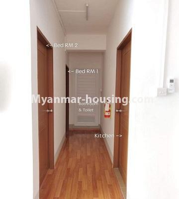 မြန်မာအိမ်ခြံမြေ - ငှားရန် property - No.4469 - ဗိုလ်တစ်ထောင် Time Square တွင် အိပ်ခန်းနှစ်ခန်းနှင့် ကွန်ဒိုခန်းငှားရန် ရှိသည်။corridor