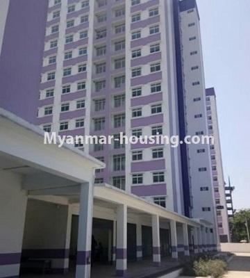 မြန်မာအိမ်ခြံမြေ - ငှားရန် property - No.4469 - ဗိုလ်တစ်ထောင် Time Square တွင် အိပ်ခန်းနှစ်ခန်းနှင့် ကွန်ဒိုခန်းငှားရန် ရှိသည်။building view