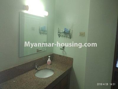 မြန်မာအိမ်ခြံမြေ - ငှားရန် property - No.4472 - စမ်းချောင်းတွင် ဈေးနှုန်းသင့်တော်သော ပရိဘောဂပါပြီး ကွန်ဒိုခန်း ငှားရန်ရှိသည်။bathroom