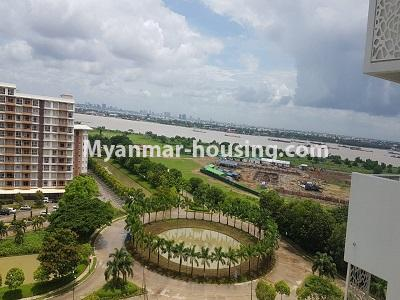 缅甸房地产 - 出租物件 - No.4473 - Studio room with standard decoration in Glaxy Tower for rent, Star City, Thanlyin! - outside view from balcony