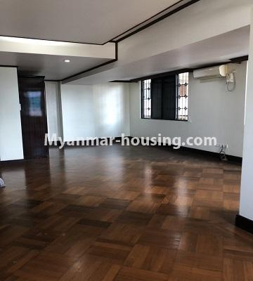 Myanmar real estate - for rent property - No.4474 - Decorated condominium room for office or residence or both in Pearl Condo, Bahan! - living room