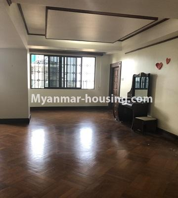 Myanmar real estate - for rent property - No.4474 - Decorated condominium room for office or residence or both in Pearl Condo, Bahan! - entrance main door
