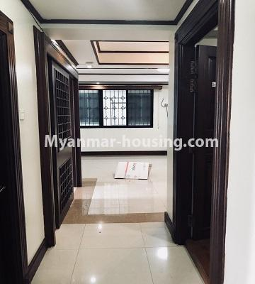 Myanmar real estate - for rent property - No.4474 - Decorated condominium room for office or residence or both in Pearl Condo, Bahan! - corridor