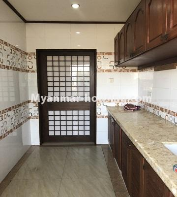 Myanmar real estate - for rent property - No.4474 - Decorated condominium room for office or residence or both in Pearl Condo, Bahan! - kitchen