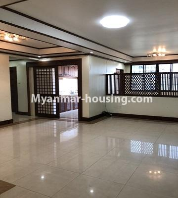 Myanmar real estate - for rent property - No.4474 - Decorated condominium room for office or residence or both in Pearl Condo, Bahan! - large hall space