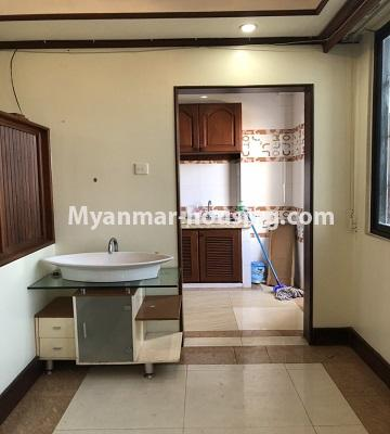 Myanmar real estate - for rent property - No.4474 - Decorated condominium room for office or residence or both in Pearl Condo, Bahan! - bathroom 1