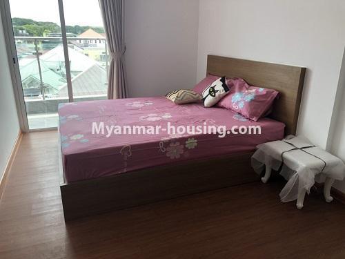 မြန်မာအိမ်ခြံမြေ - ငှားရန် property - No.4475 - စမ်းချောင်းမြို့နယ် စမ်းချောင်း Garden ကွန်ဒိုတွင် ပရိဘောဂပါပြီး အခန်းငှားရန် ရှိသည်။master bedroom