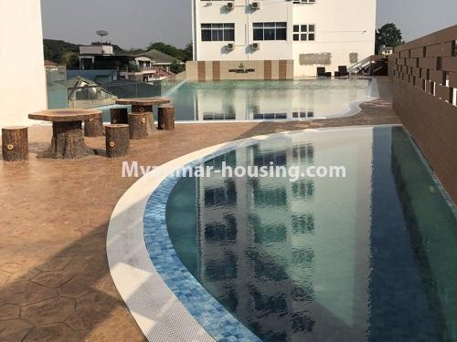 မြန်မာအိမ်ခြံမြေ - ငှားရန် property - No.4475 - စမ်းချောင်းမြို့နယ် စမ်းချောင်း Garden ကွန်ဒိုတွင် ပရိဘောဂပါပြီး အခန်းငှားရန် ရှိသည်။swimming pool view