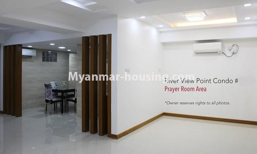 Myanmar real estate - for rent property - No.4476 - Standard River View Point Condo room for rent in Ahlone! - prayer room area
