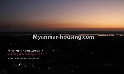 Myanmar real estate - for rent property - No.4476 - Standard River View Point Condo room for rent in Ahlone! - yangon river view