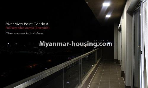 Myanmar real estate - for rent property - No.4476 - Standard River View Point Condo room for rent in Ahlone! - another outside view from balcony