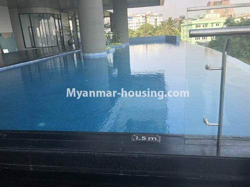 မြန်မာအိမ်ခြံမြေ - ငှားရန် property - No.4480 - စမ်းချောင်း မြတ်မင်္ဂလာကွန်ဒိုတွင် အခန်းငှားရန်ရှိသည်။swimming pool