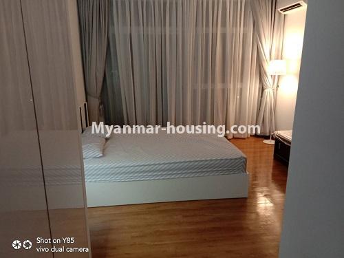 မြန်မာအိမ်ခြံမြေ - ငှားရန် property - No.4495 - စမ်းချောင်း၊ Sanchaung Garden Residence တွင် ခေတ်မှီကွန်ဒိုခန်း တစ်ခန်းငှားရန်ရှိသည်။bedroom 2