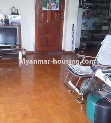 မြန်မာအိမ်ခြံမြေ - ငှားရန် property - No.4501 - ဗိုလ်တစ်ထောင်တွင် ရုံးခန်းဖွင့်ရန်အတွက် တိုက်ခန်းကျယ် ငှားရန်ရှိသည်။anothr view of living room