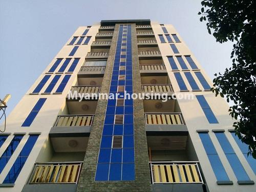 Myanmar real estate - for rent property - No.4503 - Top floor condominium room with full furniture for rent in South Okkalapa! - building view