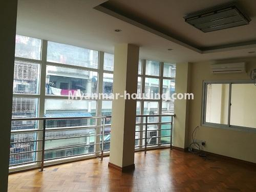 Myanmar real estate - for rent property - No.4507 - Decorated condominium room for office or residential option in Yangon Downtown! - living room view