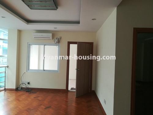 Myanmar real estate - for rent property - No.4507 - Decorated condominium room for office or residential option in Yangon Downtown! - main entrance door view
