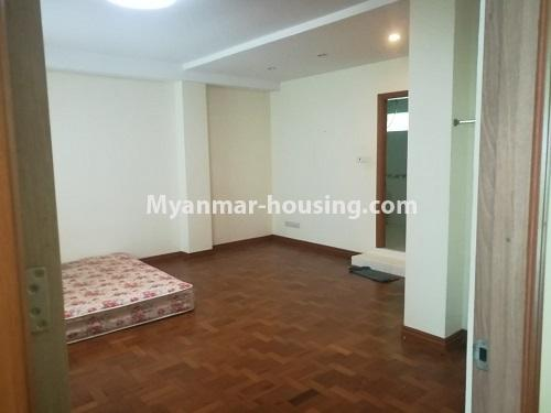 Myanmar real estate - for rent property - No.4507 - Decorated condominium room for office or residential option in Yangon Downtown! - master bedroom view