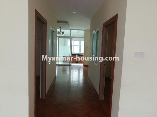 Myanmar real estate - for rent property - No.4507 - Decorated condominium room for office or residential option in Yangon Downtown! - corridor view
