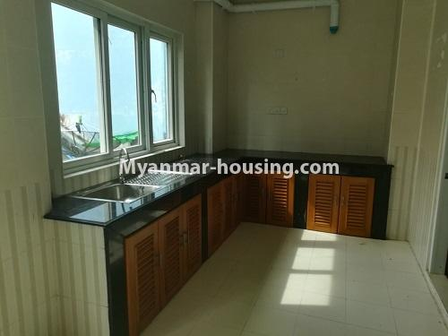 Myanmar real estate - for rent property - No.4507 - Decorated condominium room for office or residential option in Yangon Downtown! - kitchen view