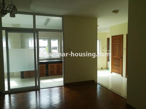 Myanmar real estate - for rent property - No.4507 - Decorated condominium room for office or residential option in Yangon Downtown! - another view of kitchen
