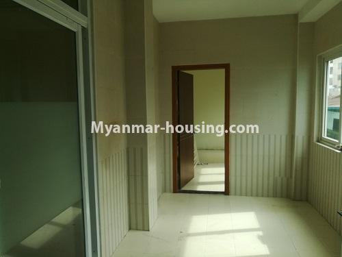Myanmar real estate - for rent property - No.4507 - Decorated condominium room for office or residential option in Yangon Downtown! - compound bathroom