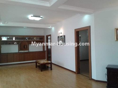 Myanmar real estate - for rent property - No.4509 - Three storey landed house for rent in Golden Valley, Bahan! - second aloor hall and bedroom door view
