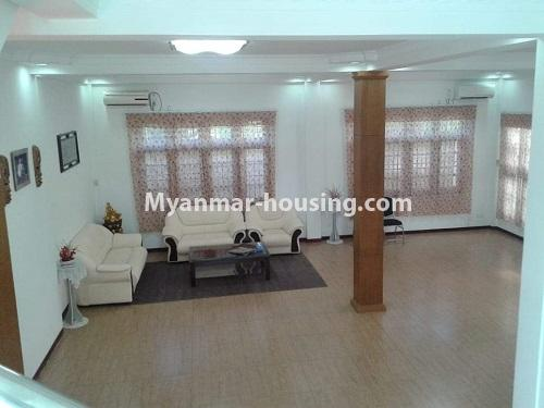 Myanmar real estate - for rent property - No.4509 - Three storey landed house for rent in Golden Valley, Bahan! - living room view