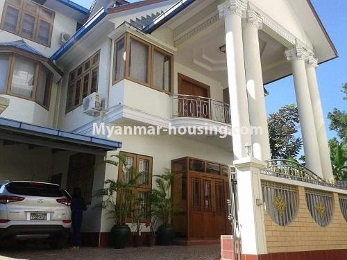 Myanmar real estate - for rent property - No.4509 - Three storey landed house for rent in Golden Valley, Bahan! - house view