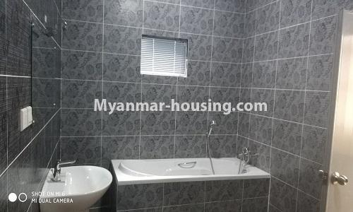Myanmar real estate - for rent property - No.4512 - Half and three storey building with lift for office or residential option or for both in Yankin! - bathroom 2