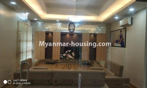 Myanmar real estate - for rent property - No.4512 - Half and three storey building with lift for office or residential option or for both in Yankin! - living room 3