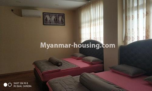 Myanmar real estate - for rent property - No.4512 - Half and three storey building with lift for office or residential option or for both in Yankin! - master bedroom 1