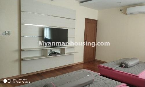 Myanmar real estate - for rent property - No.4512 - Half and three storey building with lift for office or residential option or for both in Yankin! - master bedroom 2