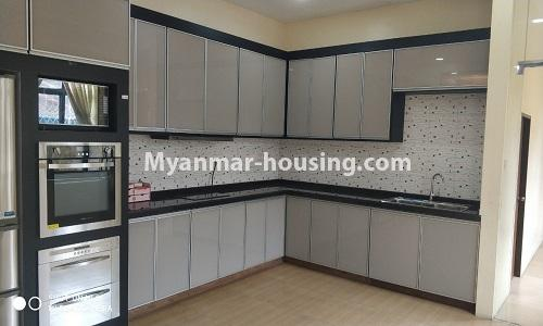 Myanmar real estate - for rent property - No.4512 - Half and three storey building with lift for office or residential option or for both in Yankin! - kitchen
