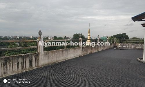 Myanmar real estate - for rent property - No.4512 - Half and three storey building with lift for office or residential option or for both in Yankin! - outside view from the roof