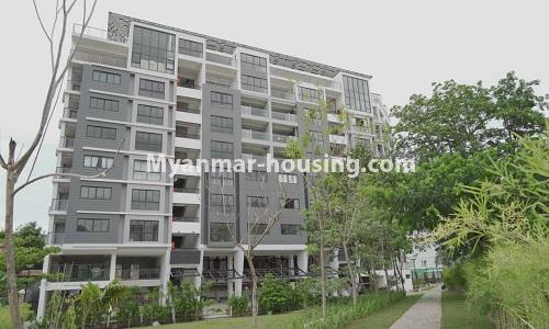 မြန်မာအိမ်ခြံမြေ - ငှားရန် property - No.4513 - တောင်ဥက္ကလာတွင် အဆင့်မြင့်ပြင်ဆင်ထားသော ကွန်ဒိုတိုက်ခန်း ငှားရန်ရှိသည်။building view