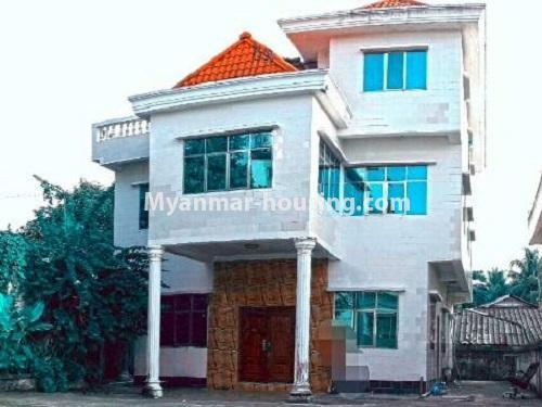 မြန်မာအိမ်ခြံမြေ - ငှားရန် property - No.4535 - မရမ်းကုန်း ၈မိုင်တွင် အိပ်ခန်းရှစ်ခန်းပါသော လုံးချင်းအိမ် ငှားရန်ရှိသည်။house view