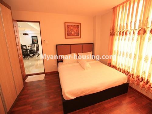 မြန်မာအိမ်ခြံမြေ - ငှားရန် property - No.4538 - ဗိုလ်တစ်ထောင်တွင် ရန်ကုန်မြစ်ဗျူးမြင်ရသော အပေါ်ဆုံးလွှာ ငှားရန်ရှိသည်။bedroom view