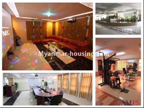မြန်မာအိမ်ခြံမြေ - ငှားရန် property - No.4538 - ဗိုလ်တစ်ထောင်တွင် ရန်ကုန်မြစ်ဗျူးမြင်ရသော အပေါ်ဆုံးလွှာ ငှားရန်ရှိသည်။gym and reception view