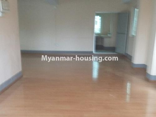 Myanmar real estate - for rent property - No.4539 - First floor condo room for rent on Yatana Road, South Okkalapa! - living room hall view