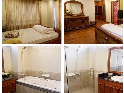 မြန်မာအိမ်ခြံမြေ - ငှားရန် property - No.4542 - မရမ်းကုန်းမြို့နယ် မင်းဓမ္မကွန်ဒိုတွင် ကွန်ဒိုခန်းများ ငှားရန်ရှိသည်။master bedroom and bathroom