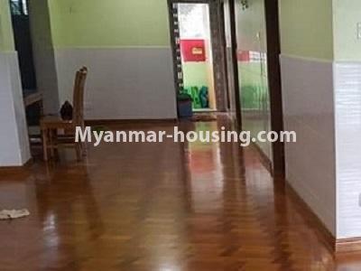 မြန်မာအိမ်ခြံမြေ - ငှားရန် property - No.4545 - မြေနီကုန်းတွင် အိပ်ခန်းနှစ်ခန်းပါသော မီနီကွန်ဒိုခန်း ငှားရန်ရှိသည်။corridor view
