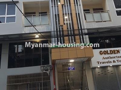 မြန်မာအိမ်ခြံမြေ - ငှားရန် property - No.4545 - မြေနီကုန်းတွင် အိပ်ခန်းနှစ်ခန်းပါသော မီနီကွန်ဒိုခန်း ငှားရန်ရှိသည်။buildng view