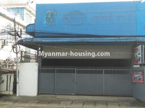 မြန်မာအိမ်ခြံမြေ - ငှားရန် property - No.4555 - ဆိုင်ခန်းဖွင့််ချင်သူများအတွက် တောင်ဥက္ကလာ မိန်းလမ်းမကြီးပေါ်တွင် ဆိုင်ခန်းတစ်ခန်း ငှားရန်ရှိသည်။shop view