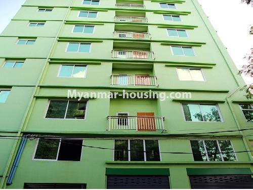 မြန်မာအိမ်ခြံမြေ - ငှားရန် property - No.4566 - ကြည့်မြင်တိုင်တွင် အသစ်ဆောက်လုပ်ထားသော ရှစ်ထပ်တိုက်ကွန်ဒိုအသေးစား ငှားရန်ရှိသည်။anothr view of building