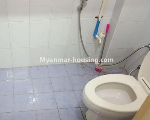 Myanmar real estate - for rent property - No.4574 - Ground floor for rent near Tharketa Capital! - toilet view
