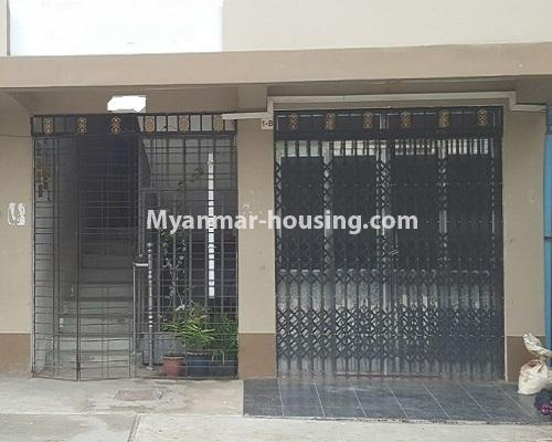Myanmar real estate - for rent property - No.4574 - Ground floor for rent near Tharketa Capital! - front side view of ground floor