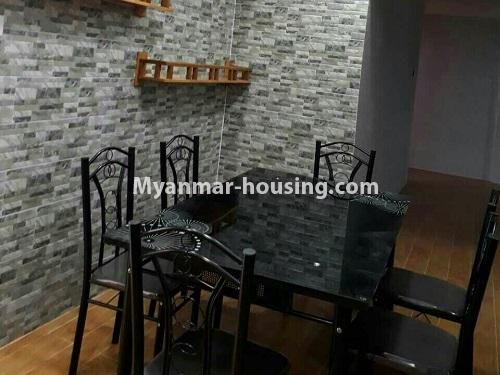 Myanmar real estate - for rent property - No.4575 - Furnished condominium room near Inya Lake for rent in Hlaing! - dining area view